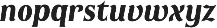 Irreverent Bold Italic otf (700) Font LOWERCASE