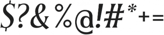Irreverent Light Italic otf (300) Font OTHER CHARS