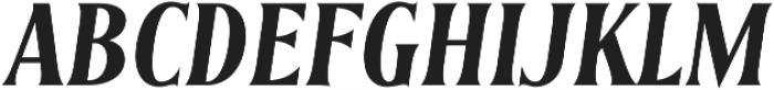 Irreverent Semibold Italic otf (600) Font UPPERCASE