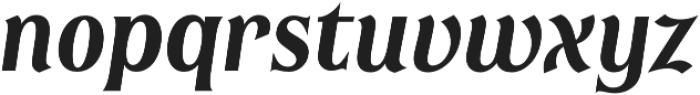 Irreverent Semibold Italic otf (600) Font LOWERCASE