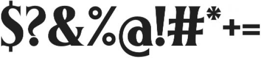 Irreverent otf (700) Font OTHER CHARS