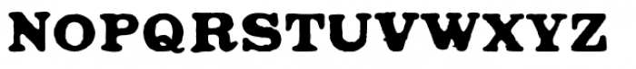 Ironbridge Font UPPERCASE