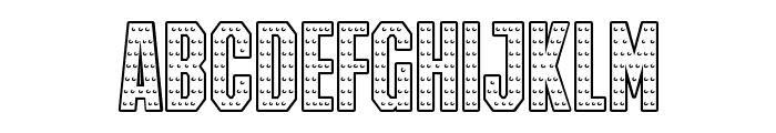 IRON MAN OF WAR 001A NCV Font UPPERCASE