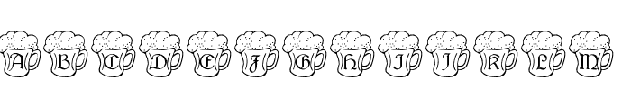 Irish Beer Font UPPERCASE