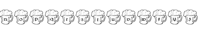Irish Beer Font LOWERCASE