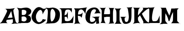 Irish Grover Font UPPERCASE