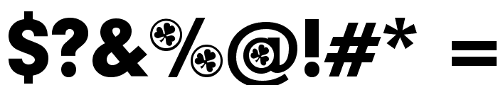 Irish Participants Font OTHER CHARS