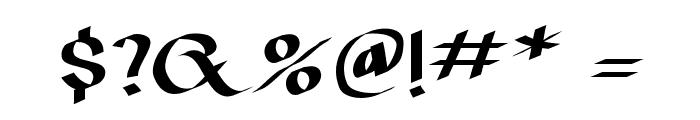 IrishUnciAlphabet Font OTHER CHARS