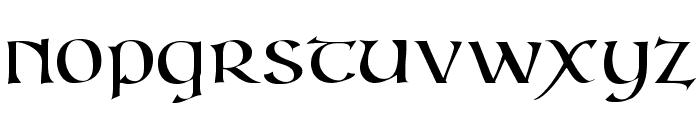 IrishUnciAlphabet Font LOWERCASE