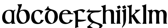 IrishUncialfabeta-Bold Font LOWERCASE