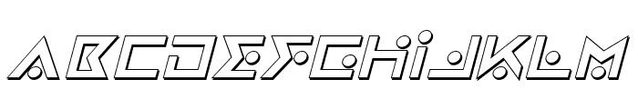 Iron Cobra 3D Italic Font UPPERCASE