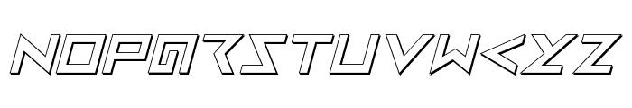 Iron Cobra 3D Italic Font LOWERCASE