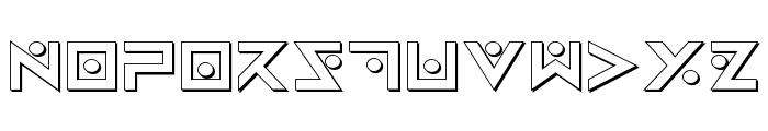 Iron Cobra 3D Font UPPERCASE
