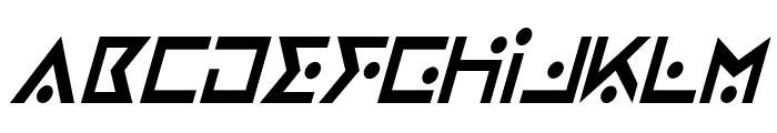 Iron Cobra Condensed Italic Font UPPERCASE