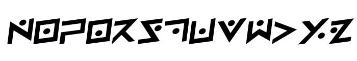 Iron Cobra Rotalic Font UPPERCASE