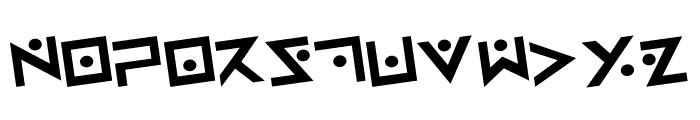 Iron Cobra Rotated Font UPPERCASE