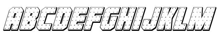 Iron Forge 3D Italic Font LOWERCASE