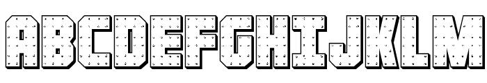 Iron Forge 3D Regular Font UPPERCASE