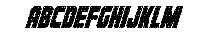 Iron Forge Condensed Italic Font LOWERCASE