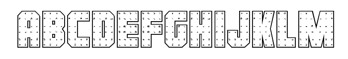 Iron Forge Outline Regular Font LOWERCASE