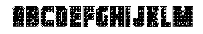 Iron Forge Plate Regular Font LOWERCASE