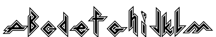 Iron H Metal Font UPPERCASE
