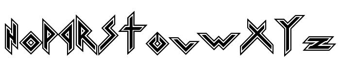 Iron H Metal Font LOWERCASE