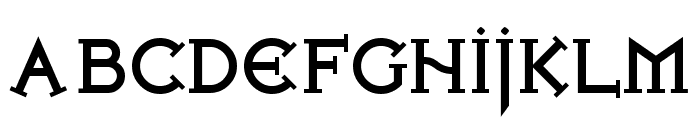 Iron League Black Font UPPERCASE