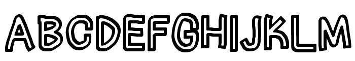 Irregular Tape Font UPPERCASE