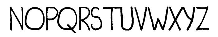 Irregularis Font UPPERCASE