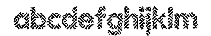 Irritate BRK Font LOWERCASE