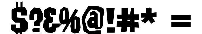 IrwinAllen Font OTHER CHARS