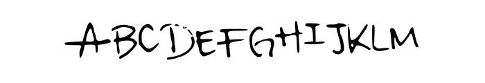 irisisweird Font UPPERCASE