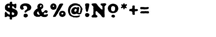 Ironbridge Regular Font OTHER CHARS