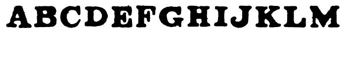 Ironbridge Regular Font UPPERCASE