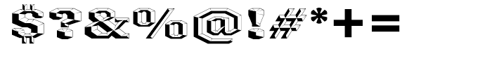 Ironmonger ThreeD Font OTHER CHARS