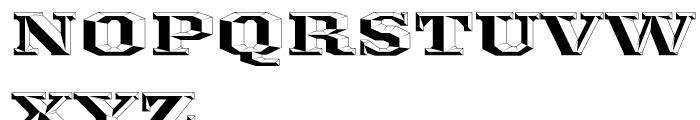Ironmonger ThreeD Font UPPERCASE