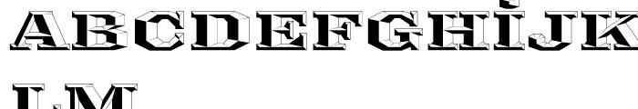 Ironmonger ThreeD Font LOWERCASE