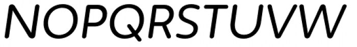 Irma Text Round Pro Italic Font UPPERCASE