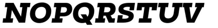 Irma Text Slab Pro Black Italic Font UPPERCASE