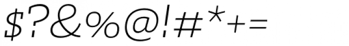Irma Text Slab Pro ExtraLight Italic Font OTHER CHARS