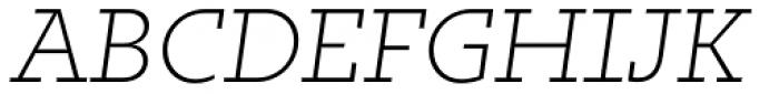 Irma Text Slab Pro ExtraLight Italic Font UPPERCASE