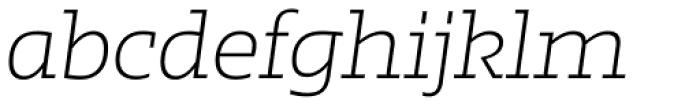 Irma Text Slab Pro ExtraLight Italic Font LOWERCASE