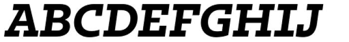 Irma Text Slab Pro Heavy Italic Font UPPERCASE