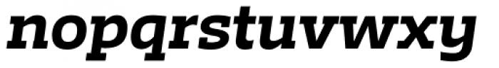 Irma Text Slab Pro Heavy Italic Font LOWERCASE