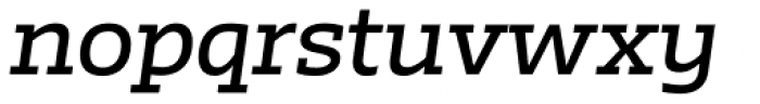 Irma Text Slab Pro Medium Italic Font LOWERCASE
