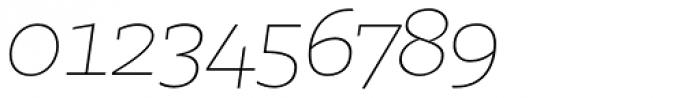Irma Text Slab Pro Thin Italic Font OTHER CHARS