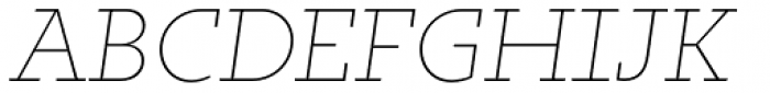 Irma Text Slab Pro Thin Italic Font UPPERCASE