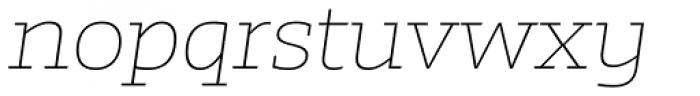 Irma Text Slab Pro Thin Italic Font LOWERCASE