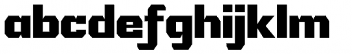 IronOn Black Font LOWERCASE